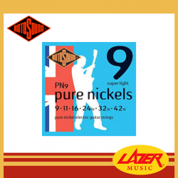 Rotosound PN9 Pure Nickels Pure Nickel 9-42 Electric Guitar Strings
