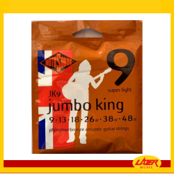 Rotosound JK9 Jumbo King Phosphor Bronze 9-48 Acoustic Guitar Strings