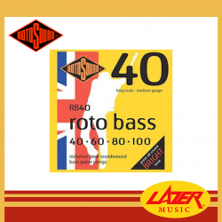 Rotosound RB40 Nickel on Steel 40-100 Bass Guitar Strings