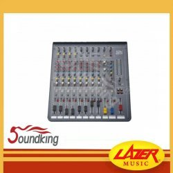 Soundking MIX12AU Twelve Input Channels with 9 EQ Bands and 100 usable effects programs, 48V phantom power & USB connectivity.