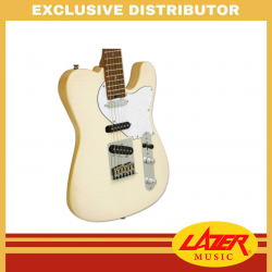 Aria 615-MK2-MBWH Nashville Hot Rod Collection Electric Guitar (Marble White)