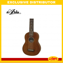 Aria MKU-1SBR Maikai Soprano Ukulele (See-Through Brown)