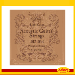 Aria AGS-200L Acoustic Guitar Strings .012-0.53
