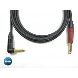 Mogami 2524 Premium Guitar Instrument Cable with Neutrik Silent Straight to Gold Right Angle Plug