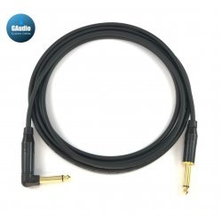 Mogami 2319 - Custom Series Guitar Instrument Cable - Amphenol Gold Connectors - Right Angle To Straight End