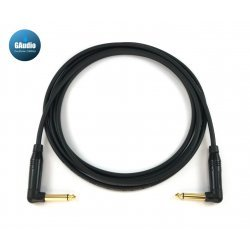 Mogami 2319 - Custom Series Guitar Instrument Cable - Amphenol Gold Connectors - Right Angle To Right Angle End