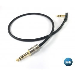 Canare L4E6S Star Quad TRS Patch Cable with Right Angle to Straight Connectors