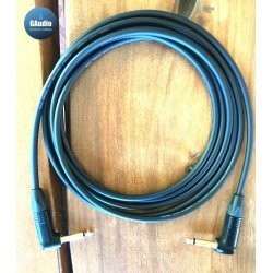 Mogami 2524 Custom Series Professional Guitar Cable - Neutrik Black Gold Right Angle To Right Angle TS Connectors