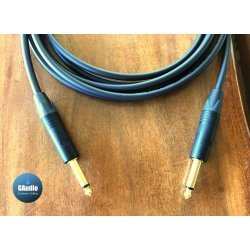 Mogami 2524 Custom Series Professional Guitar Cable - Neutrik Black Gold Straight To Straight TS Connectors