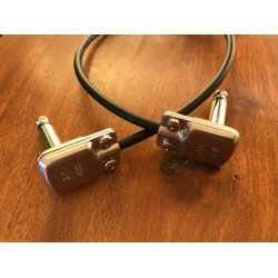 Mogami 2314 Guitar Patch Cable with SP400 Flat Right Angle TS Connector.