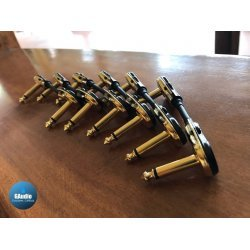 1 Set of 6 pcs - Custom Mogami 2314 - Low Profile Patch Cable with Black Gold Connector Plugs.