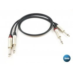 MOGAMI 2524 Dual Unbalanced Cable with Neutrik TS - NP2X on both Ends