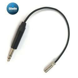Quantum Ikarus Slim Pro Headphone Cable - 1/8 (3.5mm) TRS female to 1/4 TRS Male