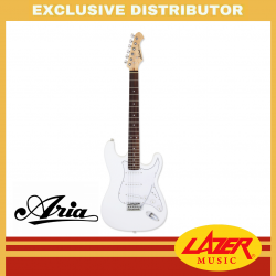 Aria STG-003 Rosewood Fingerboard SSS Electric Guitar (White)