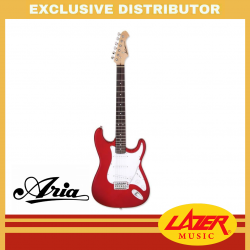 Aria STG-003 Rosewood Fingerboard SSS Electric Guitar (Candy Apple Red)